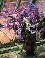 Lilacs in a Window, 1880, cassatt