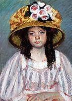 Little Girl in Large Hat, 1908, cassatt