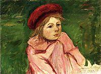 Little Girl in a Red Beret, 1898, cassatt