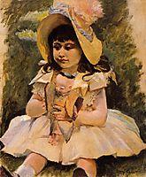 Little Girl with a Japanese Doll, c.1892, cassatt