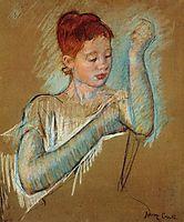 The Long Gloves, 1889, cassatt