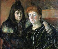 Madame Meerson and Her Daughter, c.1899, cassatt