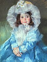 Margot in Blue, 1902, cassatt
