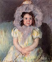 Margot in White, 1902, cassatt