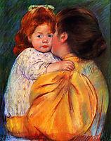 Maternal Kiss, 1896, cassatt