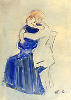 Mother and Child, c.1889, cassatt