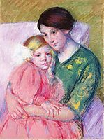 Mother and Child Reading, 1913, cassatt