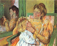 Mother Combing Her Child-s Hair, 1879, cassatt