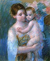 Mother Holding Her Baby, 1914, cassatt
