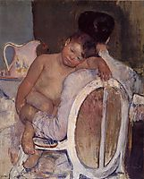 Mother Holding a Child in Her Arms, 1890, cassatt