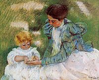Mother Playing with Her Child, 18, cassatt