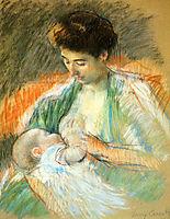 Mother Rose Nursing Her Child, 1900, cassatt