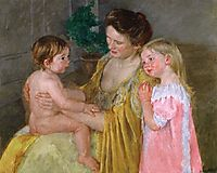Mother and Two Children, 1906, cassatt