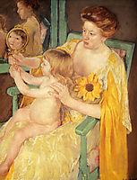 Mother Wearing A Sunflower On Her Dress, 1905, cassatt