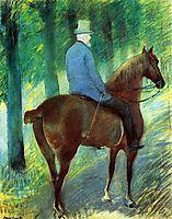 Mr. Robert S. Cassatt on Horseback, 1885, cassatt