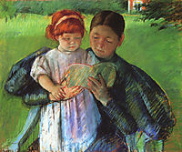 Nurse Reading to a Little Girl, 1895, cassatt