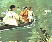 On the Water, 1895, cassatt