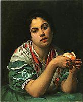 Peasant Woman Peeling an Orange, c.1875, cassatt