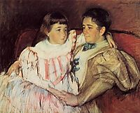 Portrait of Mrs Havemeyer and Her Daughter Electra, 1895, cassatt