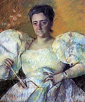 Portrait of Mrs. H. O. Hevemeyer, 1896, cassatt