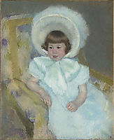 Portrait of Louise Aurora child Villeboeuf , 1902, cassatt