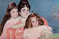 Portrait of Madame A. F. Aude and Her Two Daughters, 1899, cassatt
