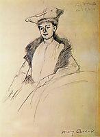 Portrait of Mme. Fontveille, 1902, cassatt