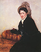 Portrait of a Woman Dressed for Matinee, 1873, cassatt