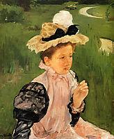 Portrait Of A Young Girl, 1900, cassatt