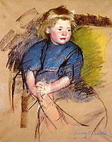 Portrait of a Young Girl (Simone), c.1903, cassatt