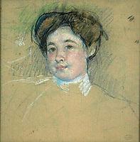 Portraitof youngwoman, 1901, cassatt