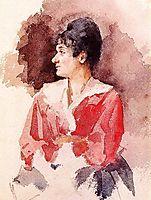 Profile of an Italian Woman, 1873, cassatt