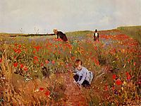 Red poppies, 1880, cassatt