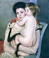 Reine Lefebvre Holding a Nude Baby, 1902-1903, cassatt