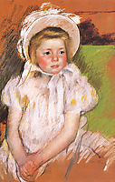 Simone in a White Bonnet, 1901, cassatt