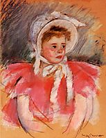 Simone in White Bonnet Seated with Clasped Hands (no.1), c.1903, cassatt
