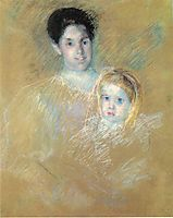 Smiling Mother with Sober Faced Child, c.1894, cassatt