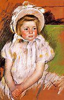 Somone in a White Bonnet, 1901, cassatt