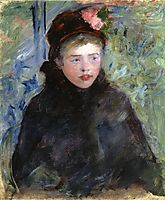 Susan in a Toque Trimmed with Two Roses, c.1881, cassatt