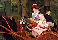 Woman and Child Driving, 1881, cassatt