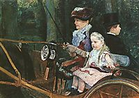 A woman and child in the driving seat, 1881, cassatt