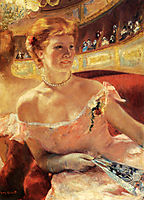 Woman With A Pearl Necklace In A Loge, 1879, cassatt