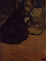 Woman with a Parakeet, 1898, cassatt