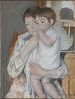 Women and child, 1889, cassatt