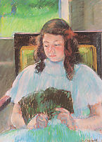 Young Girl Reading, 1908, cassatt