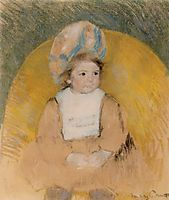 Young Girl Seated in a Yellow Armchair, c.1902, cassatt