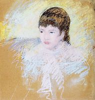 Young Girl with Brown Hair, 1886, cassatt
