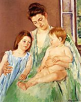 Young Mother and Two Children, 1905, cassatt