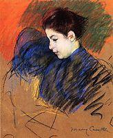 Young Woman Reflecting, c.1894, cassatt