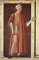 Dante Alighieri, c.1450, castagno
